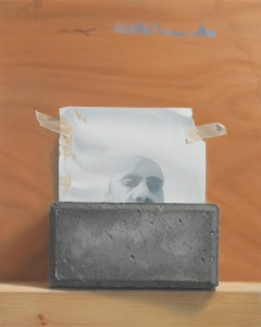 Self-Portrait with Block